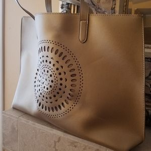 Neiman Marcus Large Gold Tote